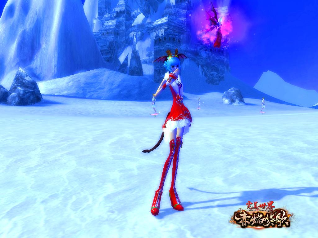 美丽的圣诞时装不仅是女玩家们的追求,男玩家穿上也十分的俏皮可爱.