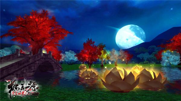 """图片: 图8:夜晚""""瑶池境""""风光.jpg"""